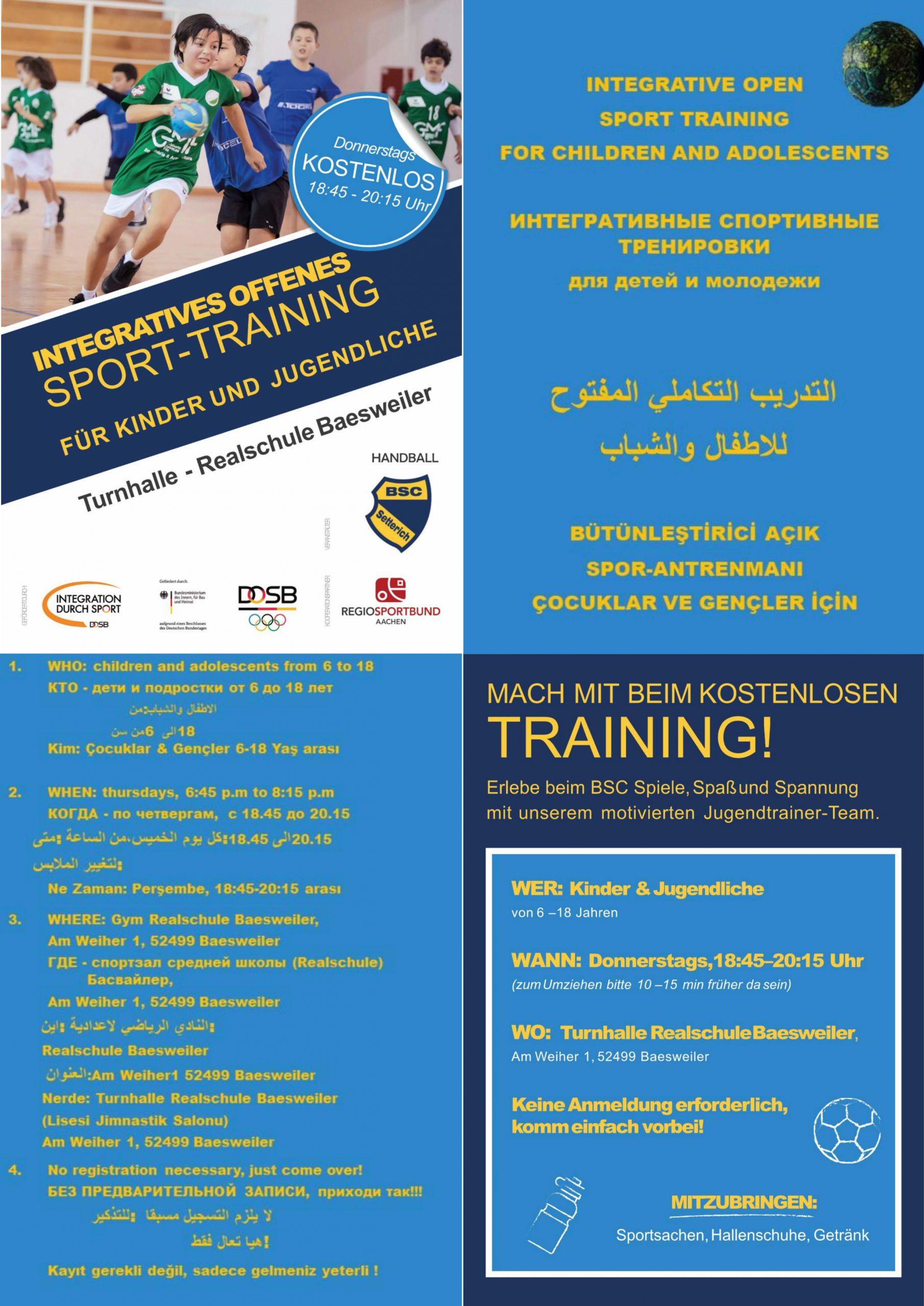 Integratives offenes Sport-Training